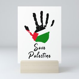 Save Palestine | Stop Terrorism (2021) Mini Art Print