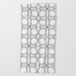 Poplar wood fibre walls electron microscopy pattern Beach Towel