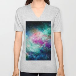 Teal Galaxy Unisex V-Neck