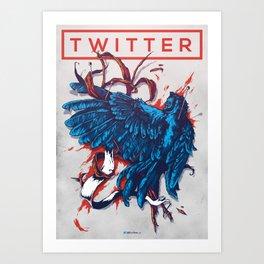 Social Networks / Twitter Art Print