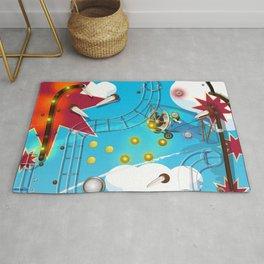 Pinball Machine arcade game Rug
