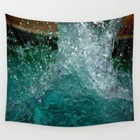 splash Wall Tapestries featuring Splash by Leah McPhail