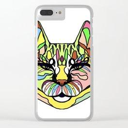 Tiger ,cat graphic design Clear iPhone Case