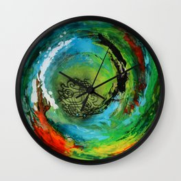 Maelstrom, captivating abstract painting Wall Clock