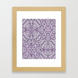 Colorful Intricate Geometric Tribal Pattern Framed Art Print