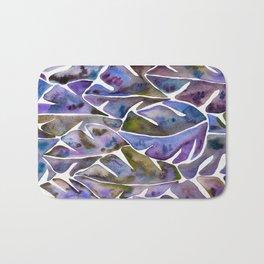 Split Leaf Philodendron – Purple Bath Mat