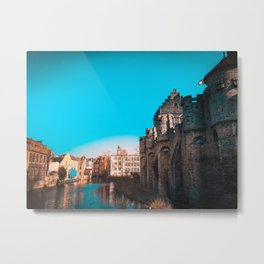 Ghent River View Metal Print