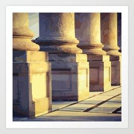 National Capitol Columns Bases Art Print
