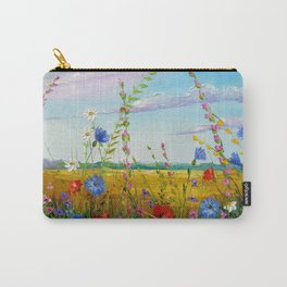 Summer flowers in the field Carry-All Pouch