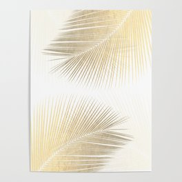 Palm leaf synchronicity - gold Poster