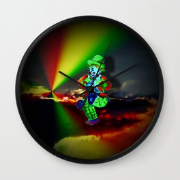 Creations in the color spectrum of the rainbow - Clown Wall Clock