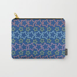 Colorful stars with dots Carry-All Pouch