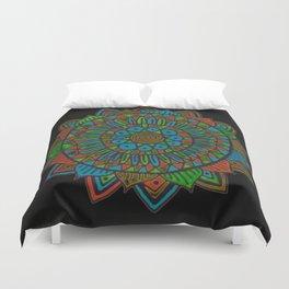Glow Doodle Mandala Duvet Cover