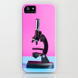 Portrait of a Microscope iPhone Case
