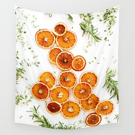 Pure Citrus (Color) Wall Tapestry
