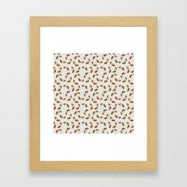 Saucisse de Morteau motif / Morteau sausage pattern Framed Art Print