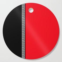 Greek Key 2 - Red and Black Cutting Board