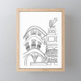 Beautiful Malaga City Framed Mini Art Print