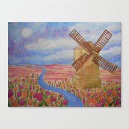 Dreamy tulips Canvas Print