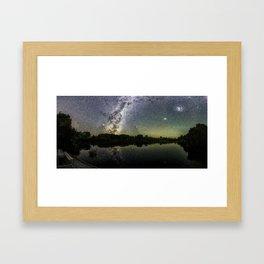 Henry Lake New Zealand Under Southern Hemisphere Skies By Olena Art Framed Art Print