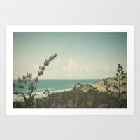 west coast Art Prints featuring West Coast by Hilary Upton