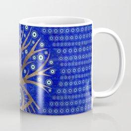 Greek Eye Tree - Mati Mataki - on lapis lazuli Coffee Mug