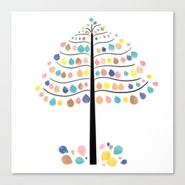 Water color tree art Canvas Print