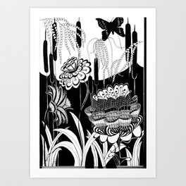 Magical Garden Art Print