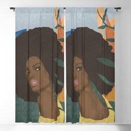 Afro lady #art print#society6 Blackout Curtain