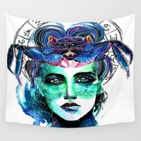 cancer Wall Tapestries featuring Cancer by Gabi Xavier