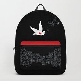 Wings of Love - Black Red Backpack
