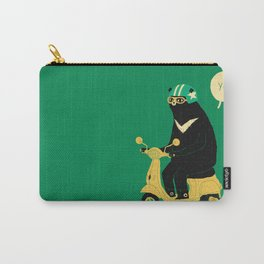 scooter bear green Carry-All Pouch