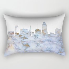Lincoln Nebraska Skyline Rectangular Pillow