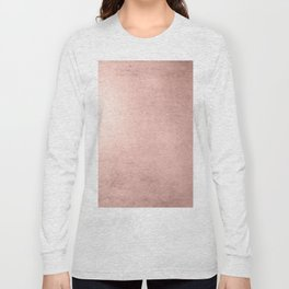 Blush Rose Gold Ombre Long Sleeve T-shirt