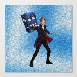 Dr Who & Tardis Canvas Print