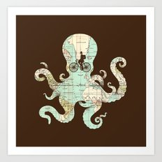 All Around The World Art Print