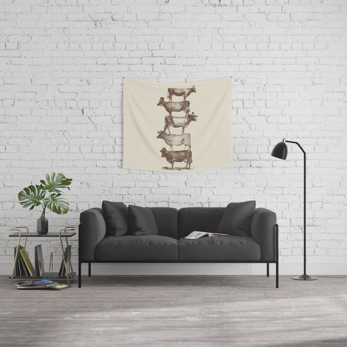 Cow Cow Nuts Wall Tapestry