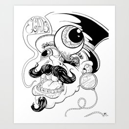 EGADS MAN! Art Print