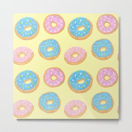 Doughnut Pattern Metal Print