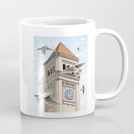 Clock Tower with Swallows Coffee Mug