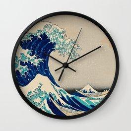 Katsushika Hokusai - Kanazawa Oki Nami Ura Wall Clock