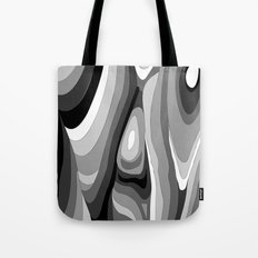 Monochromatic Psychedelic Gray Swirls Pattern Tote Bag