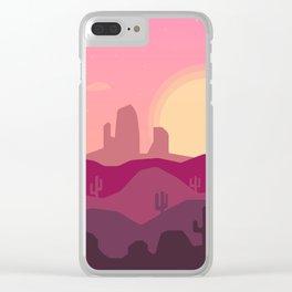 Sunrise Desert Clear iPhone Case