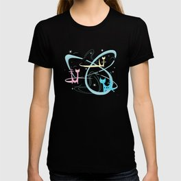Atomic Rocket Cats In Space T-shirt