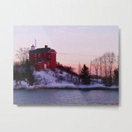 Lighthouse Sunset II Metal Print