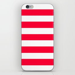 Yahoo Japan Red - solid color - white stripes pattern iPhone Skin