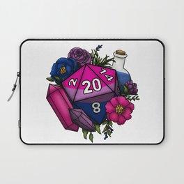Pride Bisexual D20 Tabletop RPG Gaming Dice Laptop Sleeve