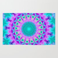 kaleidoscope Area & Throw Rugs featuring Kaleidoscope by Sylvia Cook Photography