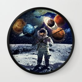 Universe in one hand Wall Clock