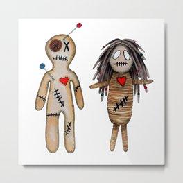 """VoodoDoll """"Couple"""" Metal Print"""